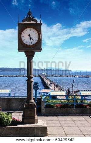 Canadian Landmark: Centennial Clock In White Rock, British Columbia
