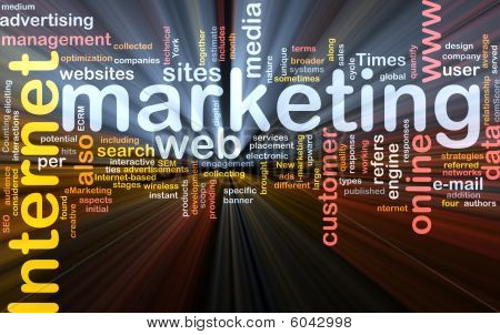 Internet Marketing palabra nube caja