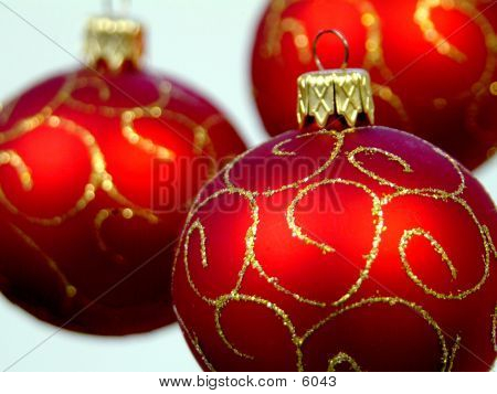 Red Ornaments poster