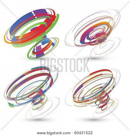 abstract vector background- Tornadoes