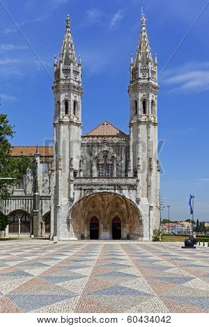 Maritime or Navy Museum (Museu de Marinha) in Belem, Lisbon Portugal. Integrated in the Jeronimos Monastery building (Unesco World Heritage)