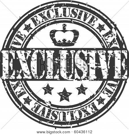 Grunge exclusive stamp, vector illustration