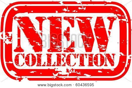 Grunge new collection rubber stamp, vector illustration