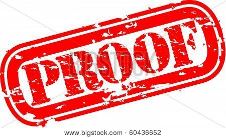 Proof grunge rubber stamp, vector illustration