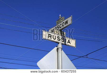 A Directional Roadsign