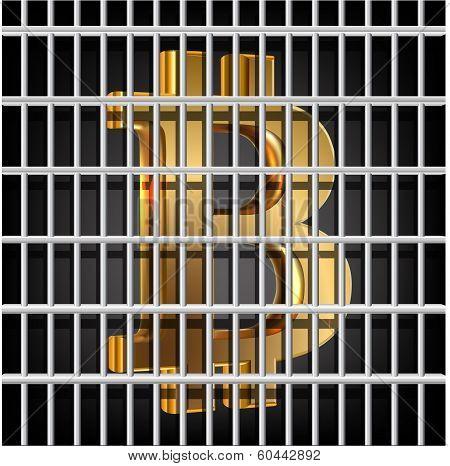 Bit Coin Behind Prison Grid