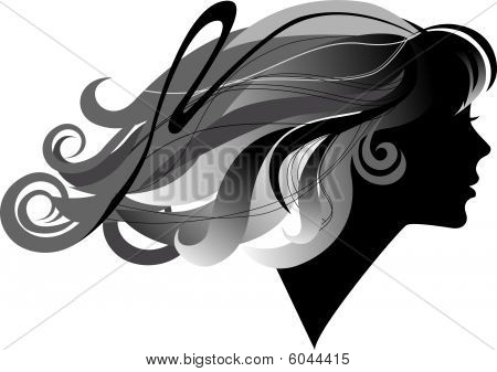 Girl With Long Hair.eps