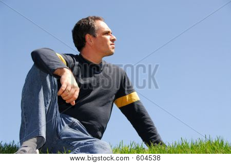 Man Looking At Sky