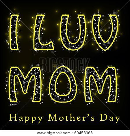 Glittery Happy Mother's Day