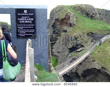 Carrick-a-rede Rope Bridge In Ireland