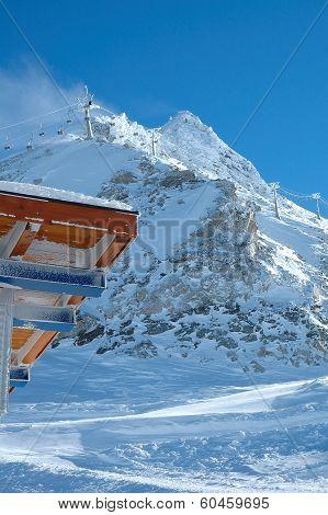 Peak, Roof And Ski Lift