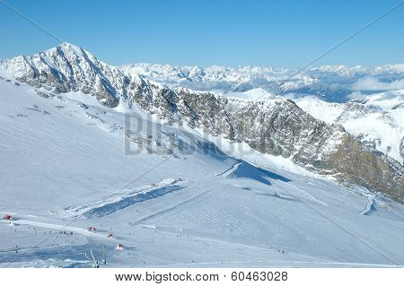Ski Slopes On Hintertux Glacier