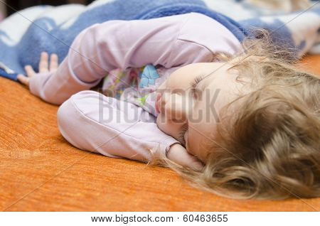 Girl Sleeping On The Couch