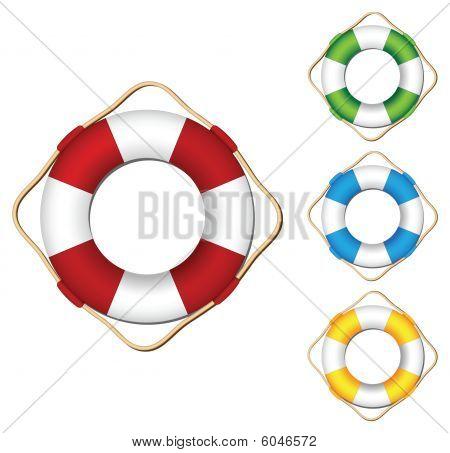 Colored vector lifebuoy