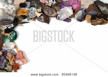 Color Gems On White Background