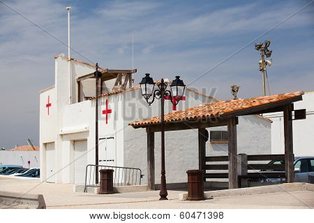 Small Infirmary Building On The Beach