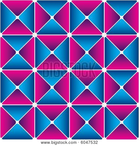 Cyan-magenta drapery pattern