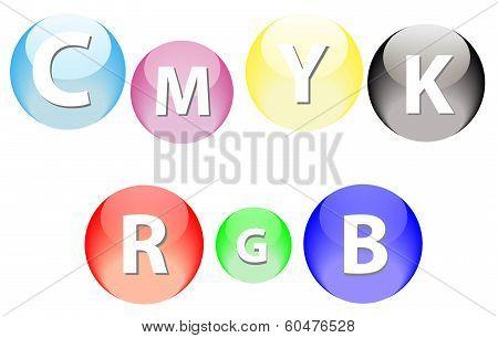Rgb And Cmyk Spheres