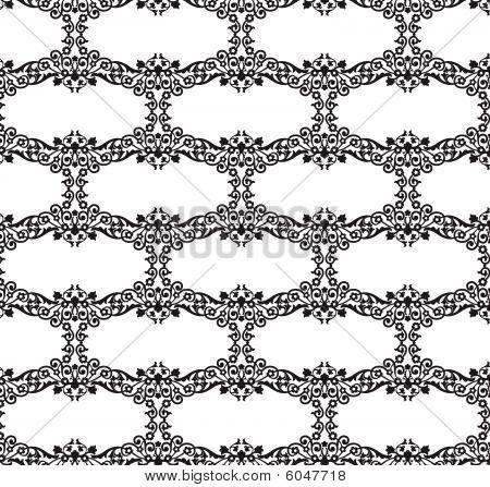 Floral Scroll Fill Pattern