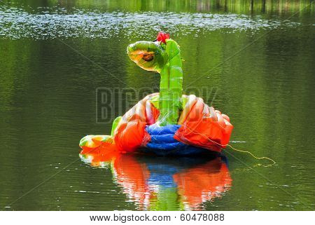 Inflated Piece Of Art In Pond