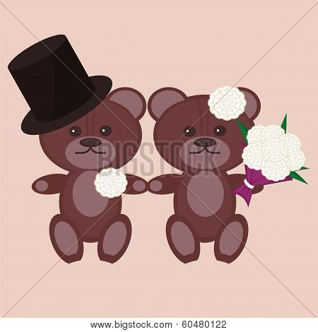nice bears bridegroom and bride