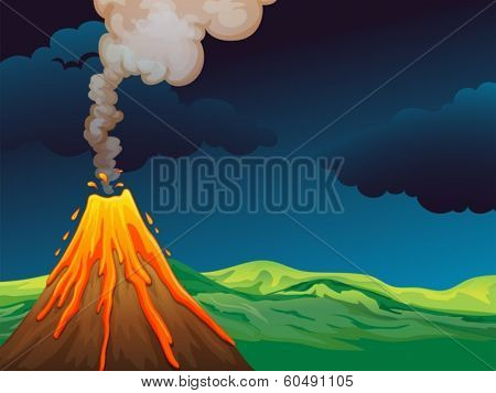 Illustration of a volcano