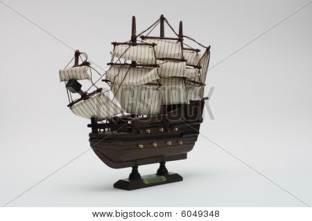 Model of an ancient sailing vessel