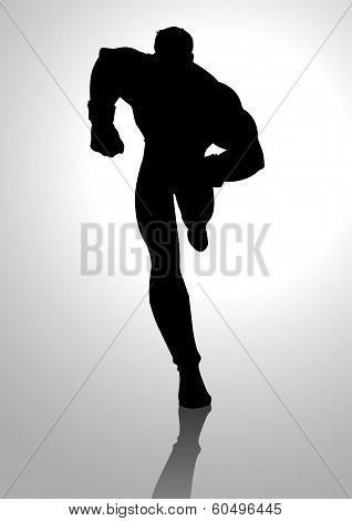 Superhero Silhouette Running