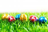 stock photo of easter candy  - Easter eggs Chocolate - JPG