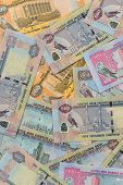 stock photo of dirham  - Mixed UAE Dirhams currency notes - JPG