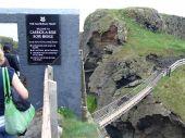 Carrick-a-rede Rope Bridge In Ireland