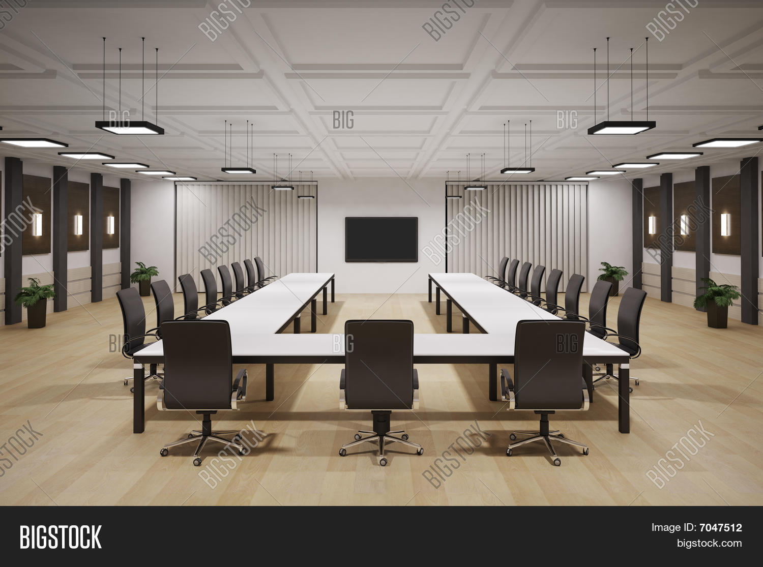 Conference Room Interior 3d Stock Photo Stock Images