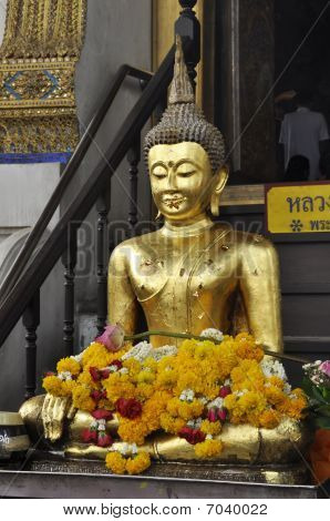 Gold Buddha Squat Flower