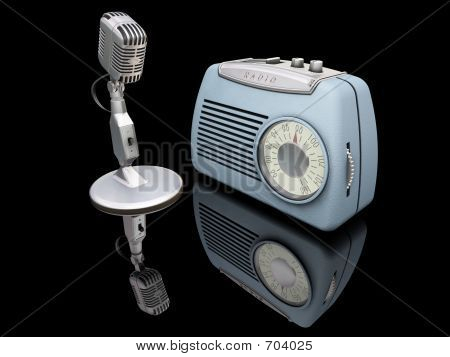 Retro Radio And Microphone