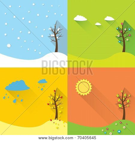 vector banner - four seasons
