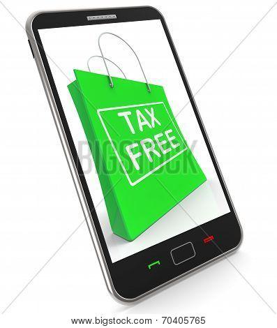 Tax Free Shopping Phone Shows No Duty Taxation
