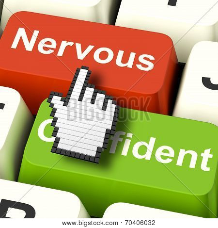 Nervous Anxious Keys Shows Nerves Or Afraid Online