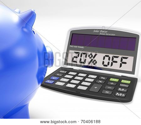 Twenty Percent Off Calculator Means Price Cut