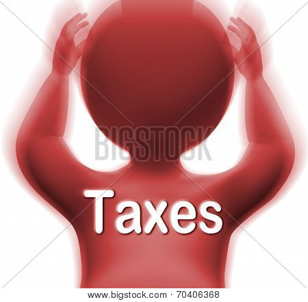 Taxes Man Means Paying Income  Business Or Property Tax