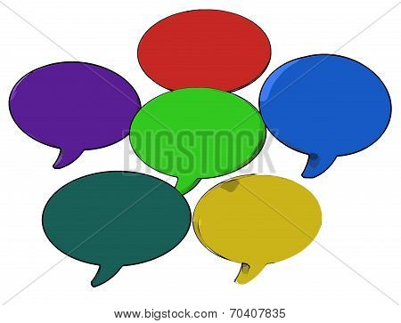 Blank Speech Balloon Shows Copy Space For Thought Chat Or Idea