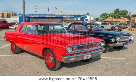 1965 Coronet And 1962 Dart At The Woodward Dream Cruise