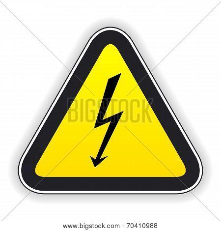 Attention sign. Vector illustration.