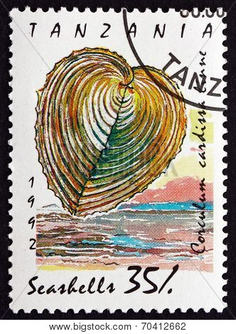 Postage Stamp Tanzania 1992 Heart Cockle, Seashell