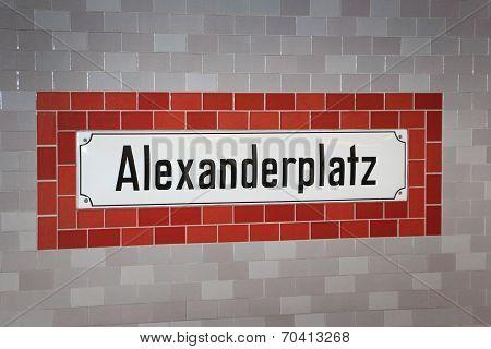 Alexanderplatz underground sign