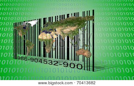 World Binary Bar code
