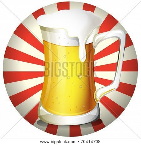 Illustration of a mug of beer