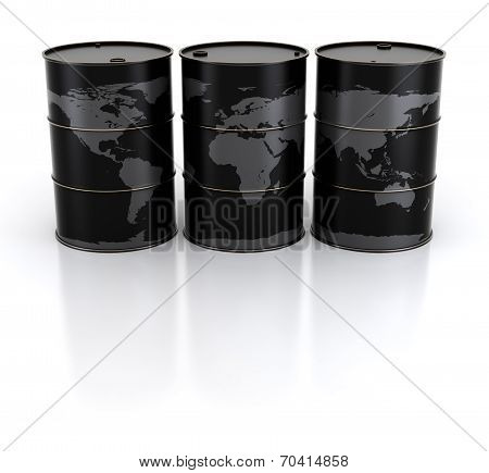 Earth And Oil Barrels