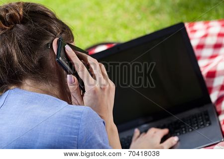 Working Woman Talking On Phone
