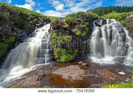 Two small waterfalls in Scotland