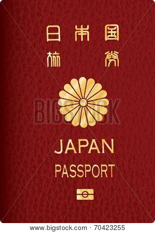 vector Japan passport cover